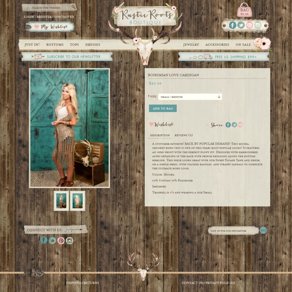 Rustic Roots Boutique Designing Fresh Deluxe Web Design